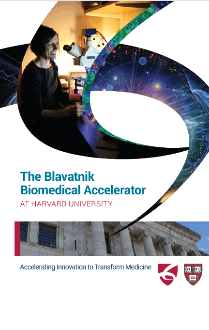 Cover of the Blavatnik Biomedical Accelerator overview brochure.