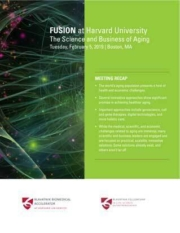 Cover of a report recounting highlights from the 2019 Fusion symposium.