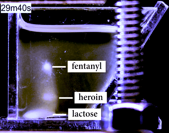 The MagLev device can separate unknown mixtures of drugs for identification. Image courtesy of the Whitesides Lab.