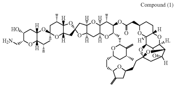 Illustration of compound 1 for U.S. Patent 10,954,249.